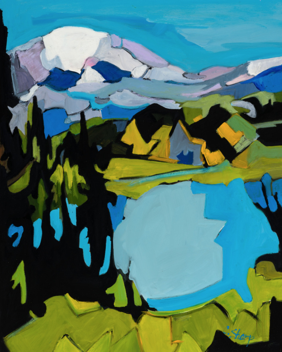 TIPSOO LAKE I. Oil on panel. 16 x 20""