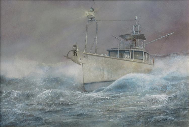 """Greyhound . 2014. Oil on board. 25 3/4 x 18 3/4"""""""