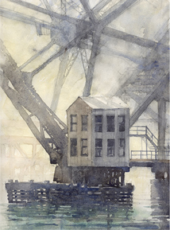 Bascule Bridge by W.G. Hook 2016