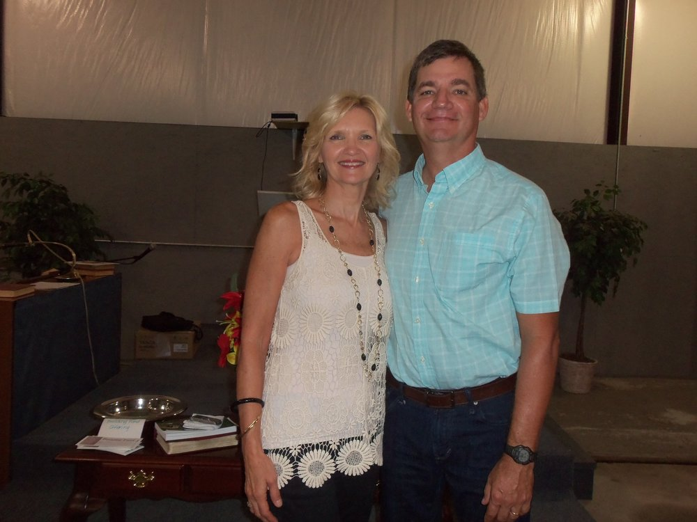 Deacon: Ray parkerwith his wife Penny -