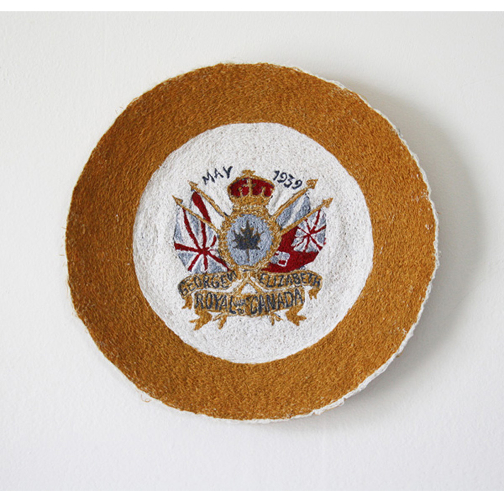 Royal Visit Plate, free-motion embroidery 2010