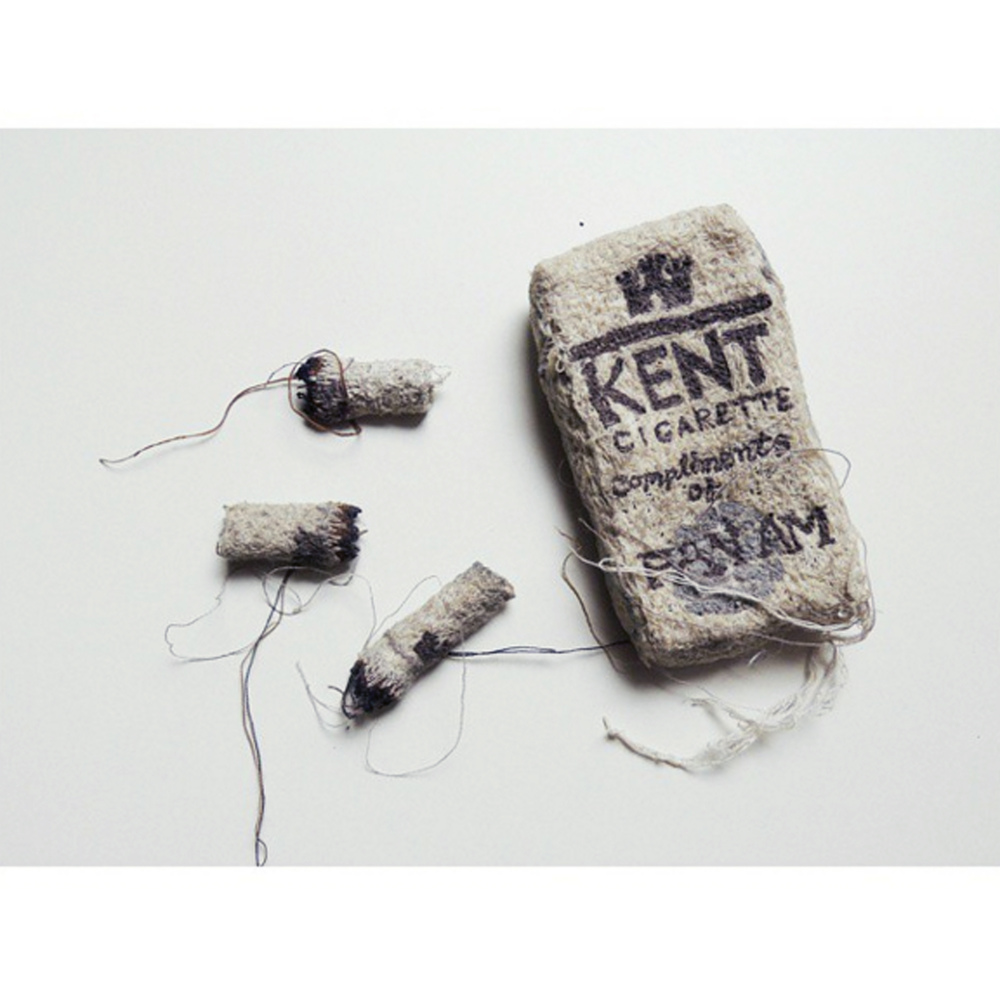 Kent Cigarettes, free-motion embroidery 2012