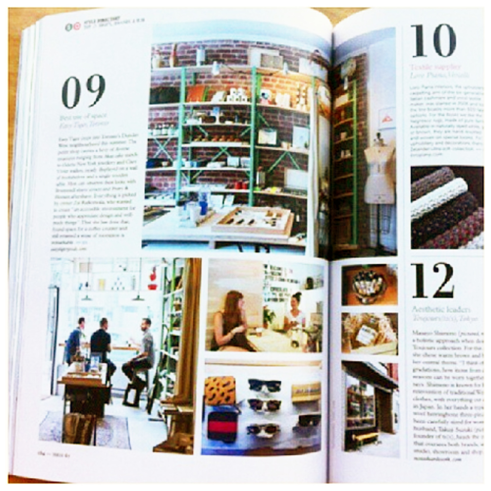 Easy Tiger Goods in Monocle, October 2013