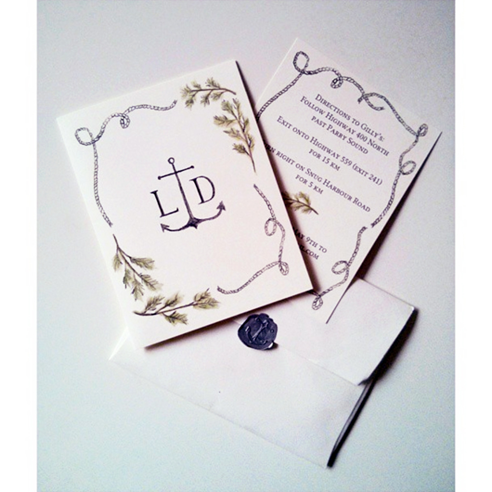 Wedding invitation for L&D 2014