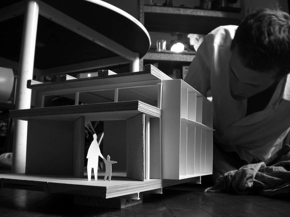 1:20 working model for Macarthur Gardens Visitor Information Centre + Hugo