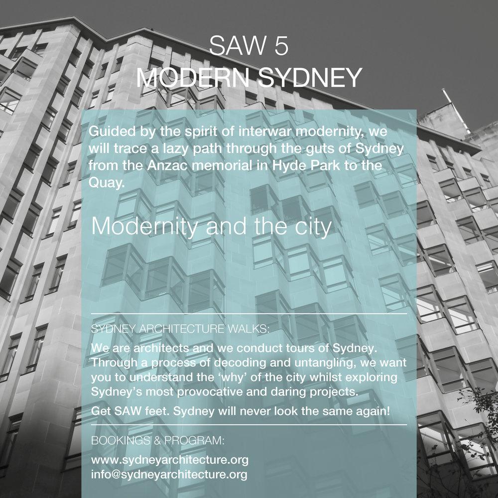 SAW5. Modern Sydney