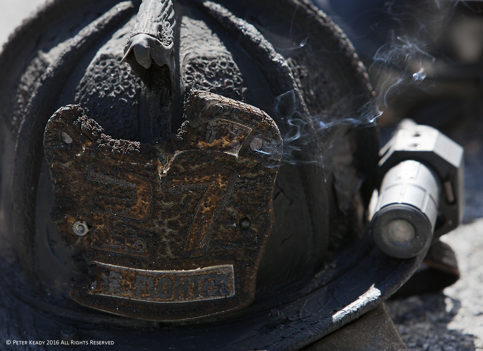 An old, charred helmet smolders from the heat of a training burn. Fire equipment must be inspected and maintained in order to provide optimal protection and efficiency. We are no different! But few take the time -  and life doesn't assist us - in avoiding burn out.