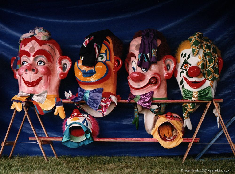 Clowns. If we're not careful, we can all look like one at the most inopportune moment. This is an old film image that I scanned, taken at a small circus years ago.