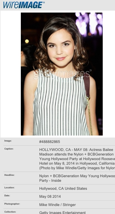 Bailee Madison At NYLON Magazine Young Hollywood Party -   Make-up by MARA CAPOZZI
