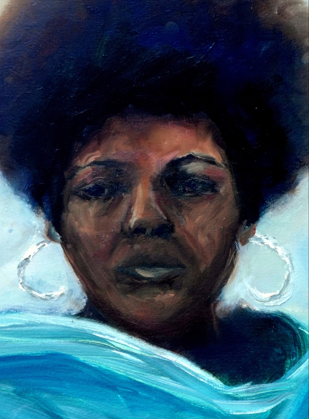 The Teal Scarf - Self Portrait 2012