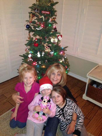 The kids decorating their very own Christmas tree with Gigi