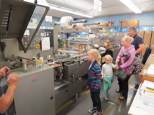 Private tour of Mrs. Grossman's Paper Company.