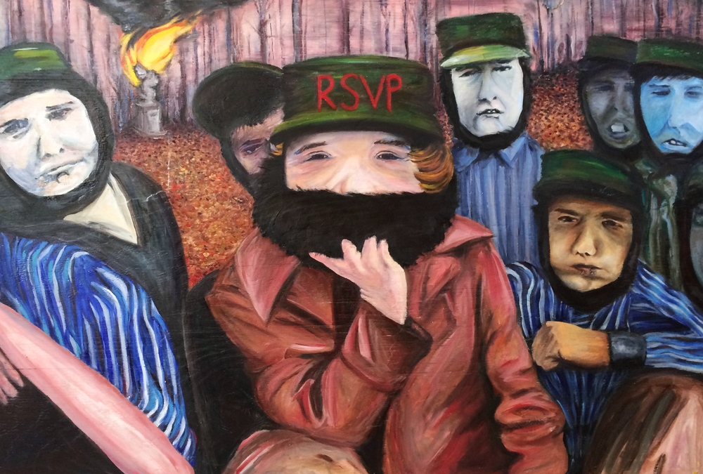 RSVP (2012) 3' x 4' oil on wood