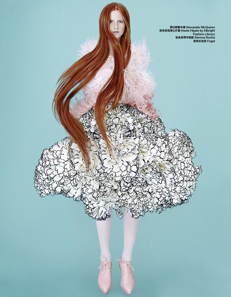 Magdalena Jasek by Maurizio Bavutti, Harper's Bazaar China, 2015