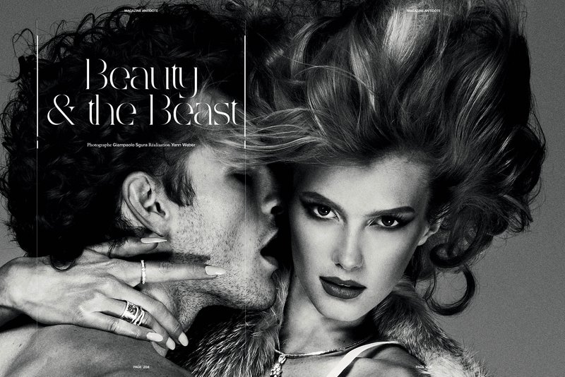 Beauty & the Beast, photographed by Giampaolo Sgura, Magazine Antidote, 2011