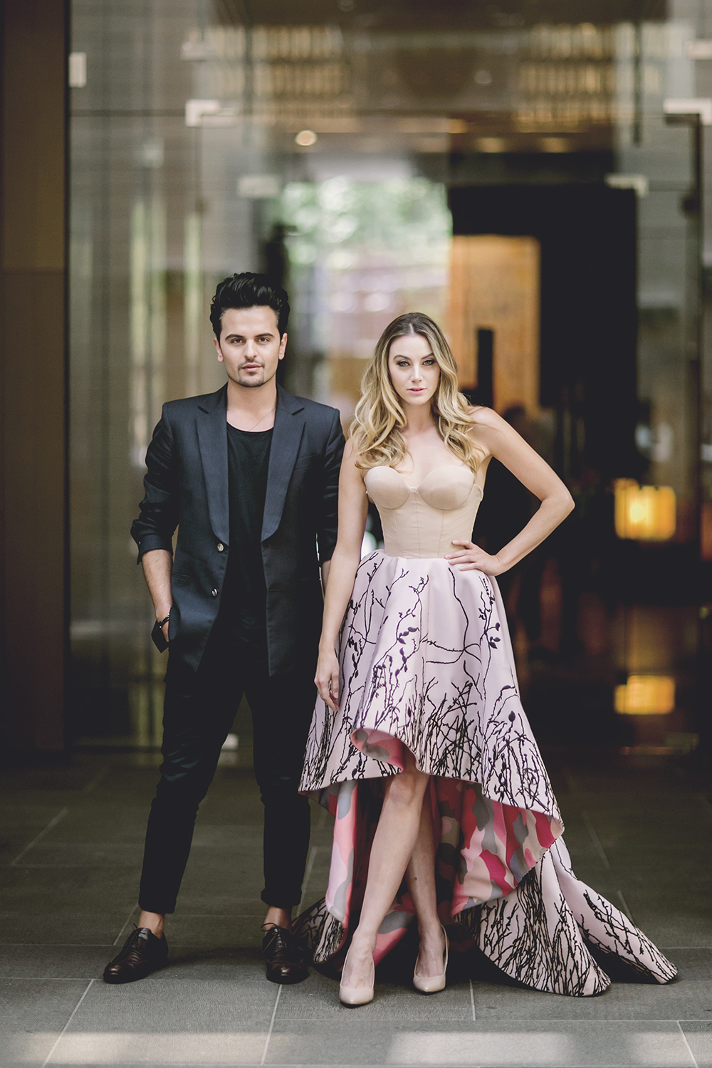 Designer, Con Ilio, and Brooke Meredith in Con Ilio for the Grand Hyatt Melbourne, photographed by Neiyo Sun