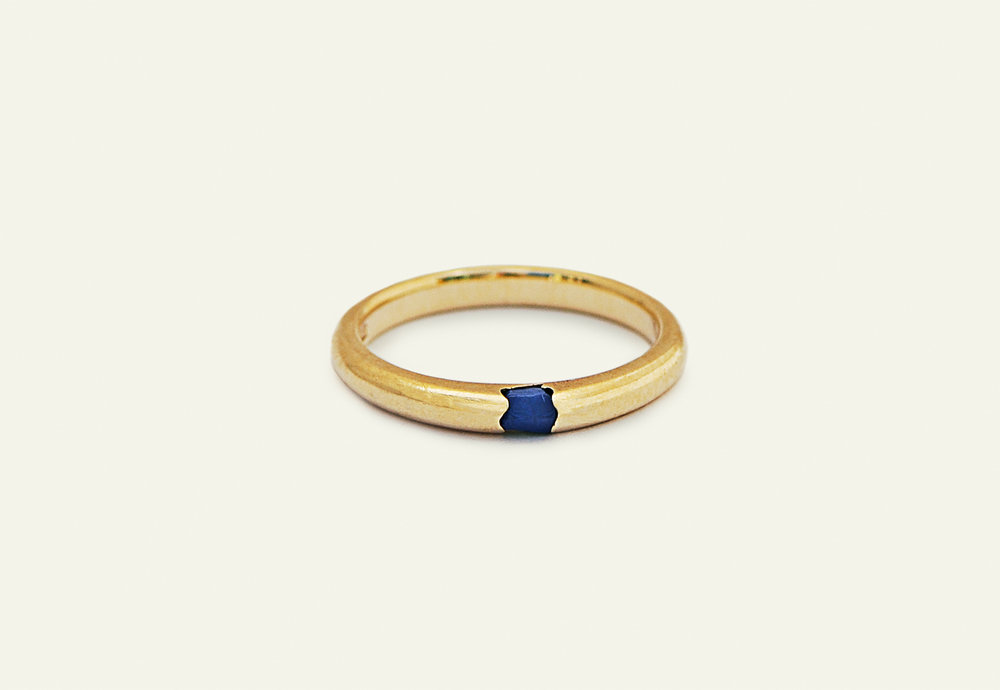 Erin Malloy, melbourne woodworker and maker | Wild to Ware sustainable gold and sapphire ring