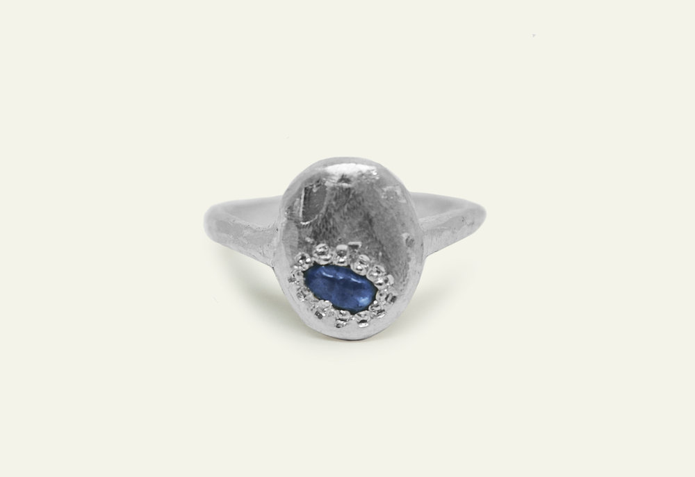 Erin Malloy, melbourne woodworker and maker | Wild to Ware sustainable silver and sapphire ring