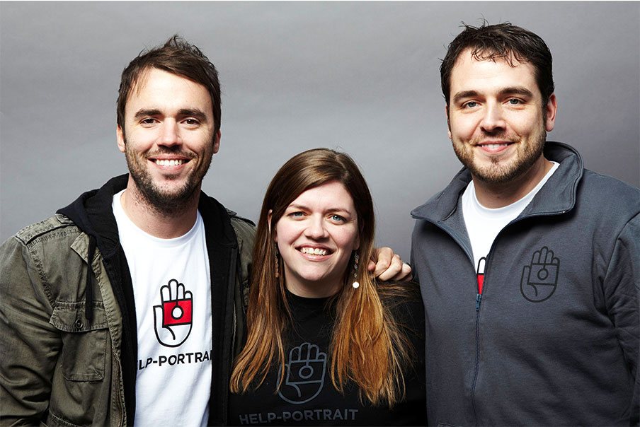 Original Launch Team: Jeremy Cowart (left), Annie Downs, Kyle Chowning, circa 2008