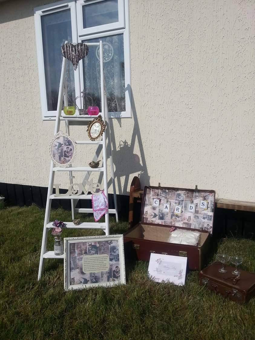 B Vintage - Started off painting furniture but after a while I had accumulated a lot of vintage and shabby chic accessories which were perfect for weddings and events so now I combine the 2. (Image provided by B Vintage)