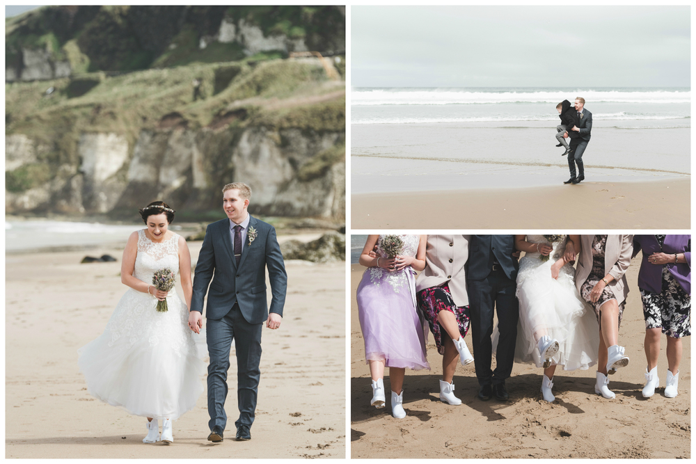 Northern_Ireland_Wedding_Photographer_Pure_Photo_NI_Shauna_Lewis_White_Rocks_Beach_irish_sea