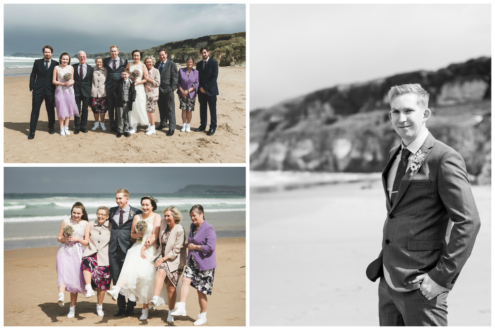 Northern_Ireland_Wedding_Photographer_Pure_Photo_NI_Shauna_Lewis_White_Rocks_Beach_Family_Groom
