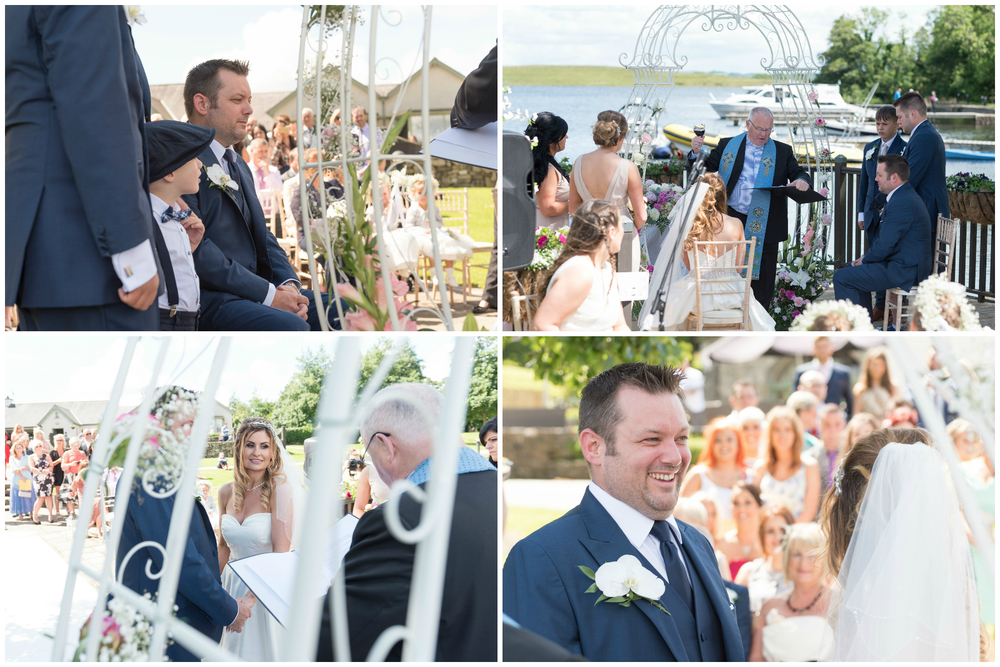 Lusty Beg Island Northern Ireland Wedding Photographers Pure Photo N.I Bride Groom Ceremony Wine