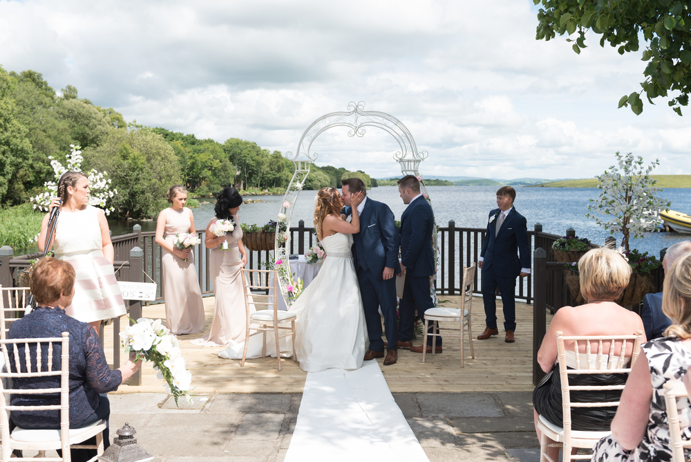 Lusty Beg Island Northern Ireland Wedding Photographers Pure Photo N.I Kissing