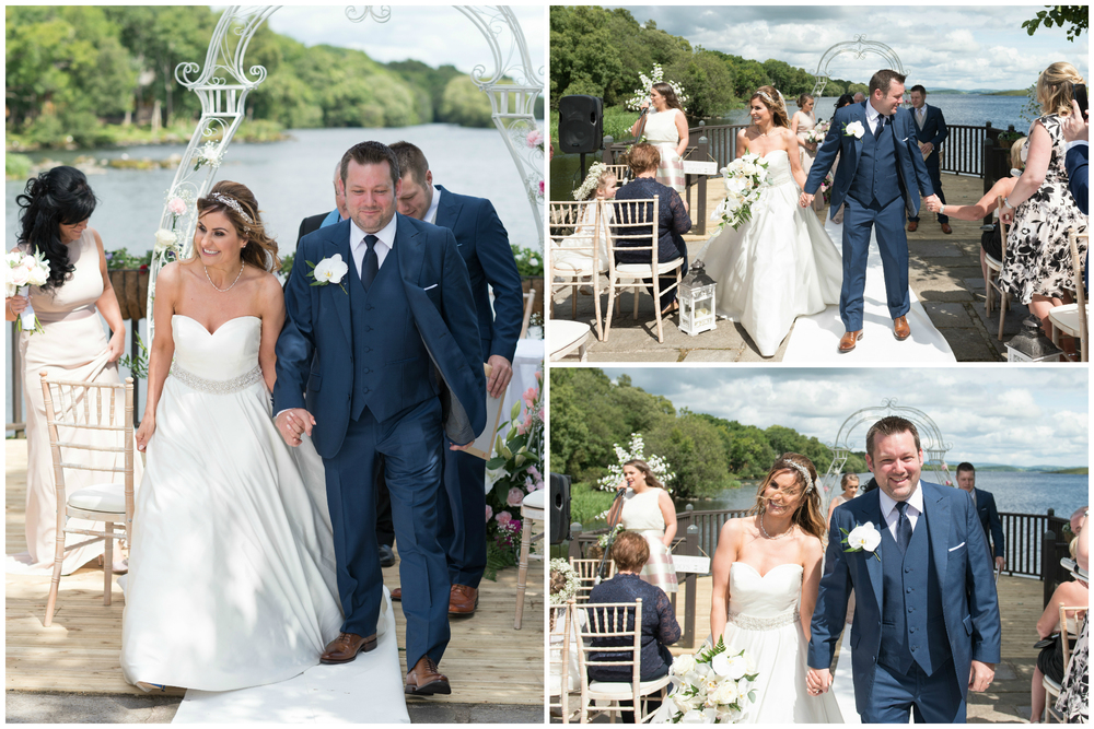 Lusty Beg Island Northern Ireland Wedding Photographers Pure Photo Bride Groom Recessional