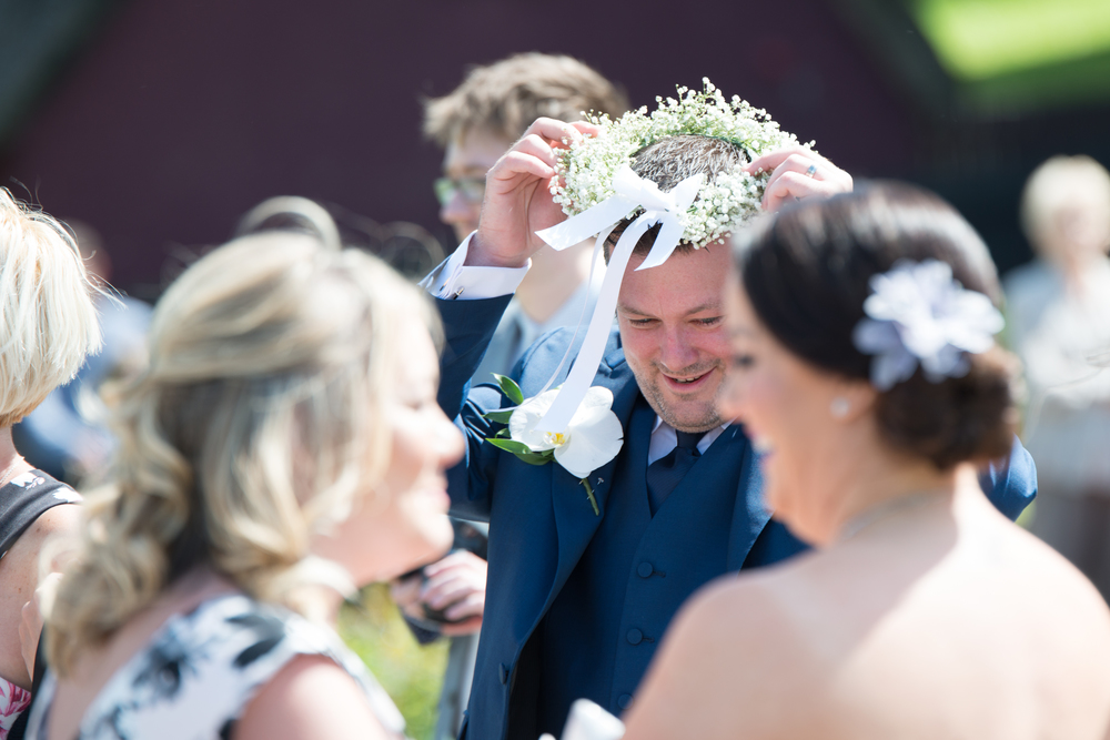 Lusty Beg Island Northern Ireland Wedding Photographers Pure Photo Groom Funny