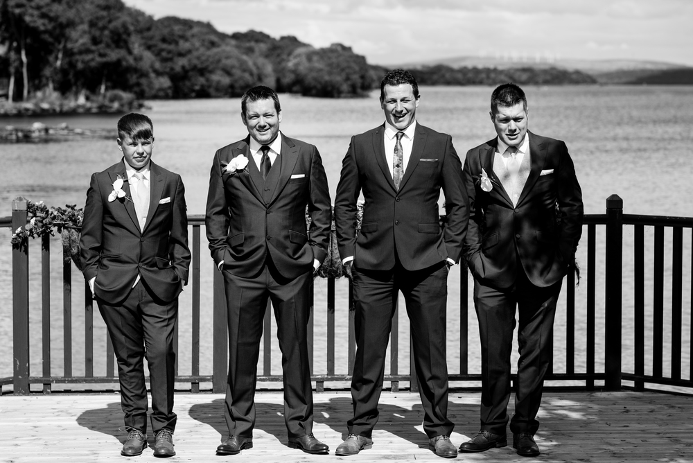 Lusty Beg Island Northern Ireland Wedding Photographers Pure Photo Groomsmen