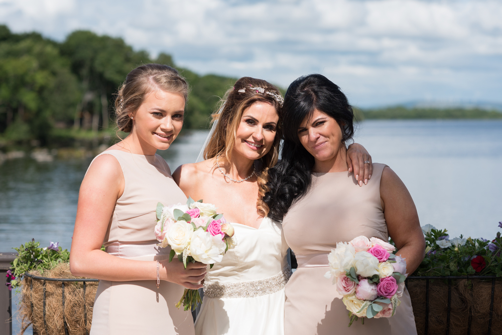 Lusty Beg Island Northern Ireland Wedding Photographers Pure Photo bride and bridesmaids