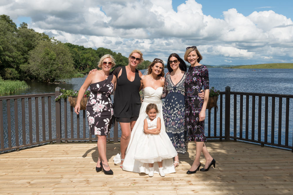 Lusty Beg Island Northern Ireland Wedding Photographers Pure Photo bride and friends