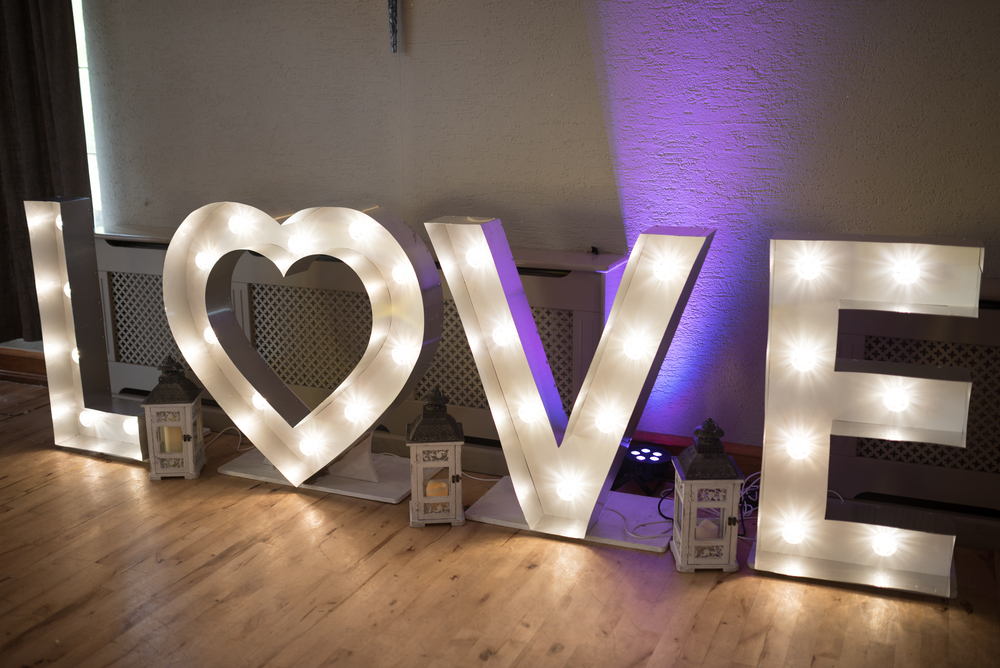 Lusty Beg Island Northern Ireland Wedding Photographers Pure Photo N.I Love Sign