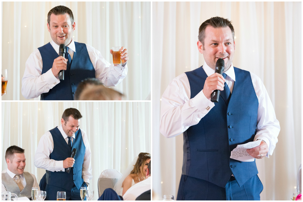 Lusty Beg Island Northern Ireland Wedding Photographers Pure Photo N.I grooms speech