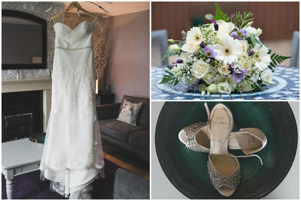 Belfast Wedding Photographer purephotoni Ramada Plaza dress flowers shoes