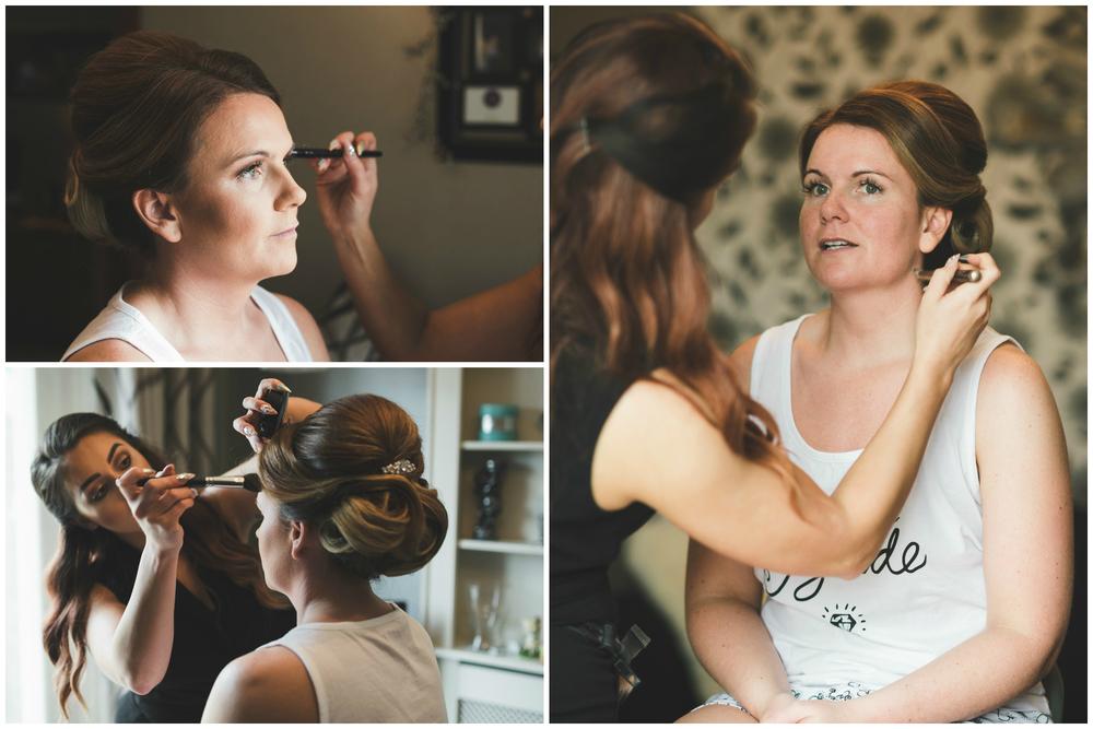 Belfast Wedding Photographer purephotoni Ramada Plaza bridal makeup