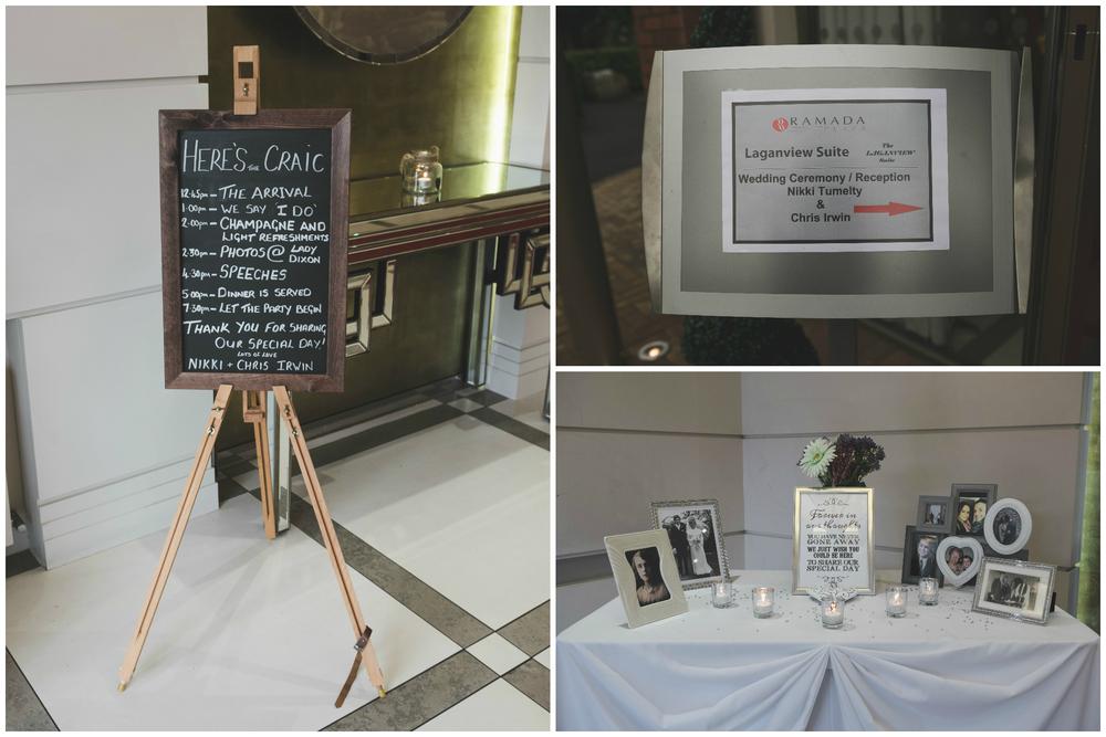 Belfast Wedding Photographer purephotoni Ramada Plaza ceremony details