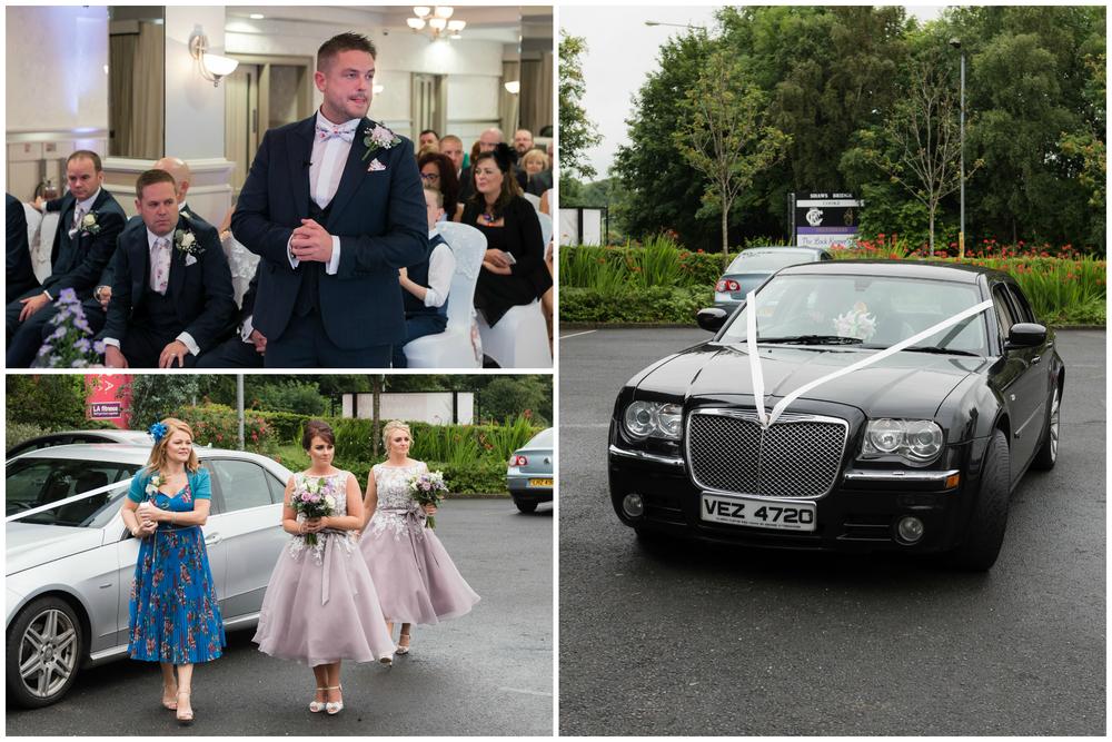 Belfast Wedding Photographer purephotoni Ramada Plaza waiting on bride
