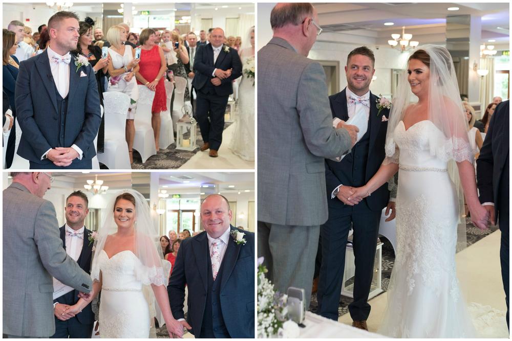 Belfast Wedding Photographer purephotoni Ramada Plaza father of the bride