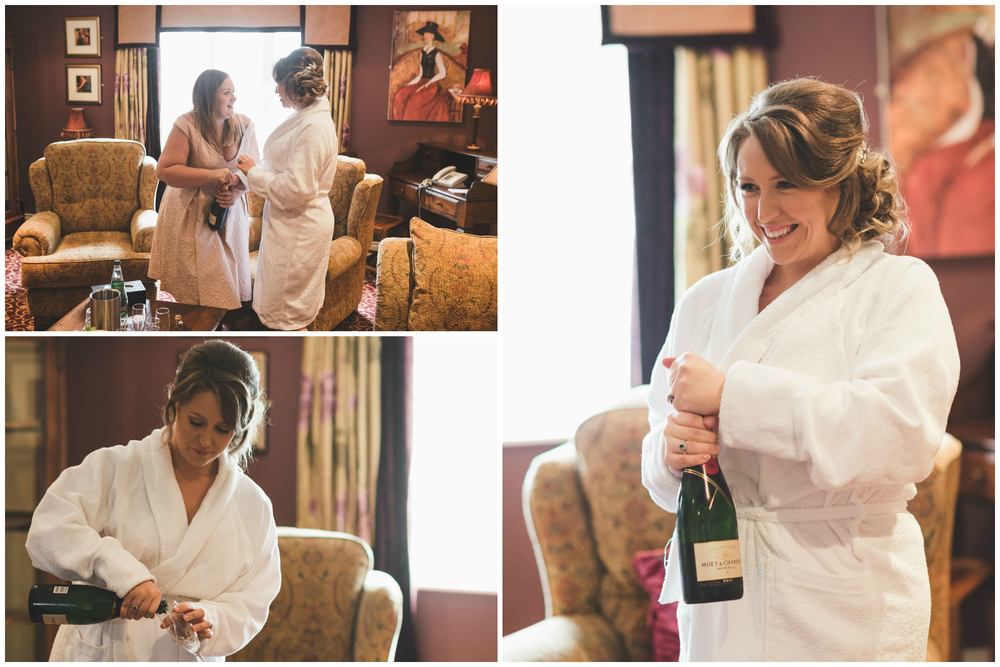 Canal Court Hotel Newry Wedding photographer Pure Photo N.I Bride Bridesmaid Champagne