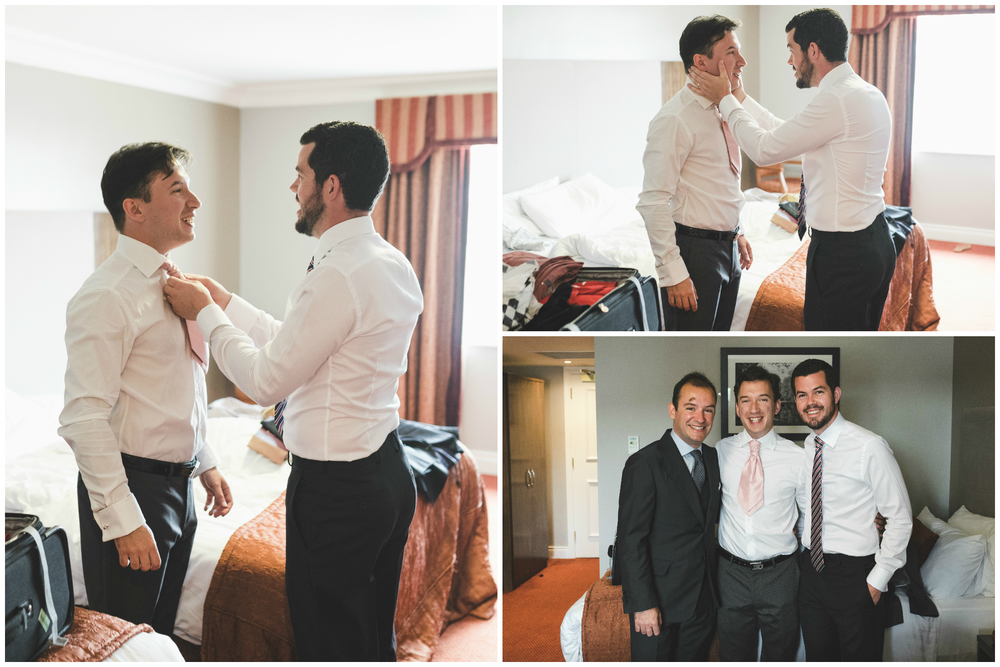 Canal Court Hotel Newry Wedding photographer Pure Photo N.I groom getting ready