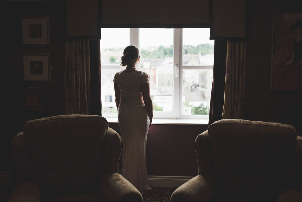 Canal Court Hotel Newry Wedding photographer Pure Photo N.I bride window
