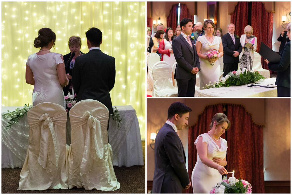 Canal Court Hotel Newry Wedding photographer Pure Photo N.I ceremony bride lighting candle