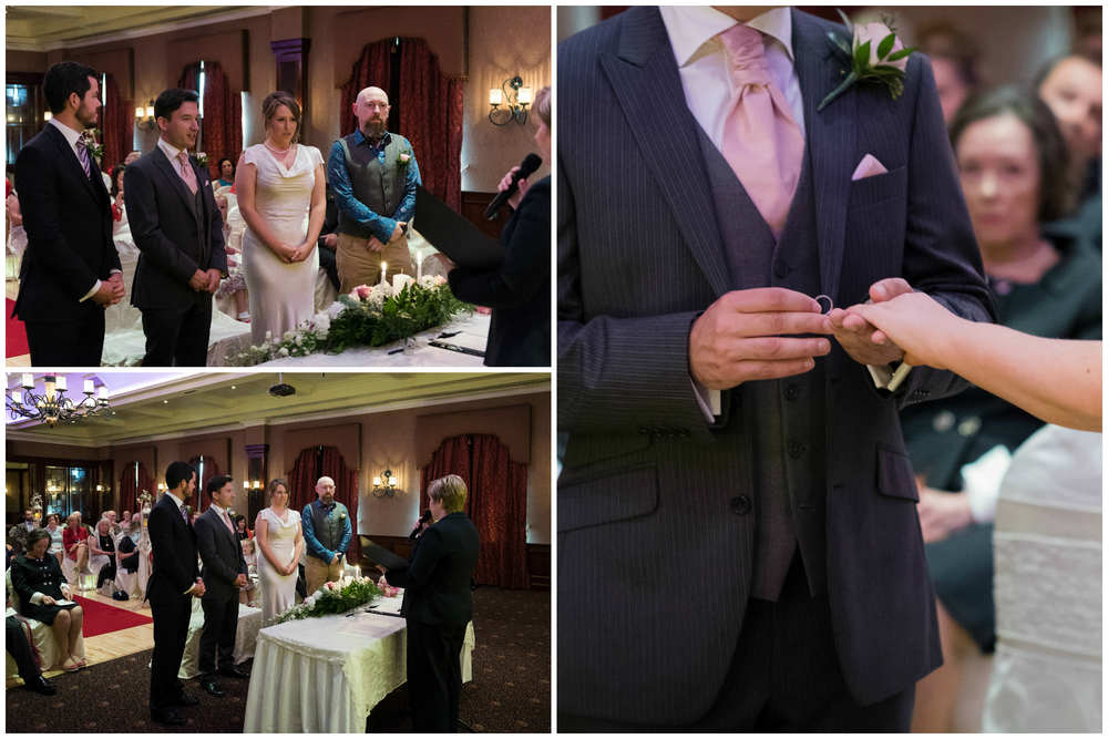 Canal Court Hotel Newry Wedding photographer Pure Photo N.I ceremony rings