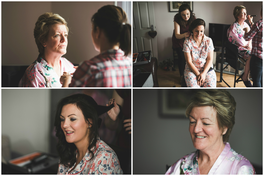 Lisburn Wedding Photographer Pure Photo N.I Magheragall Parish Church mother of the bride bridesmaid getting ready