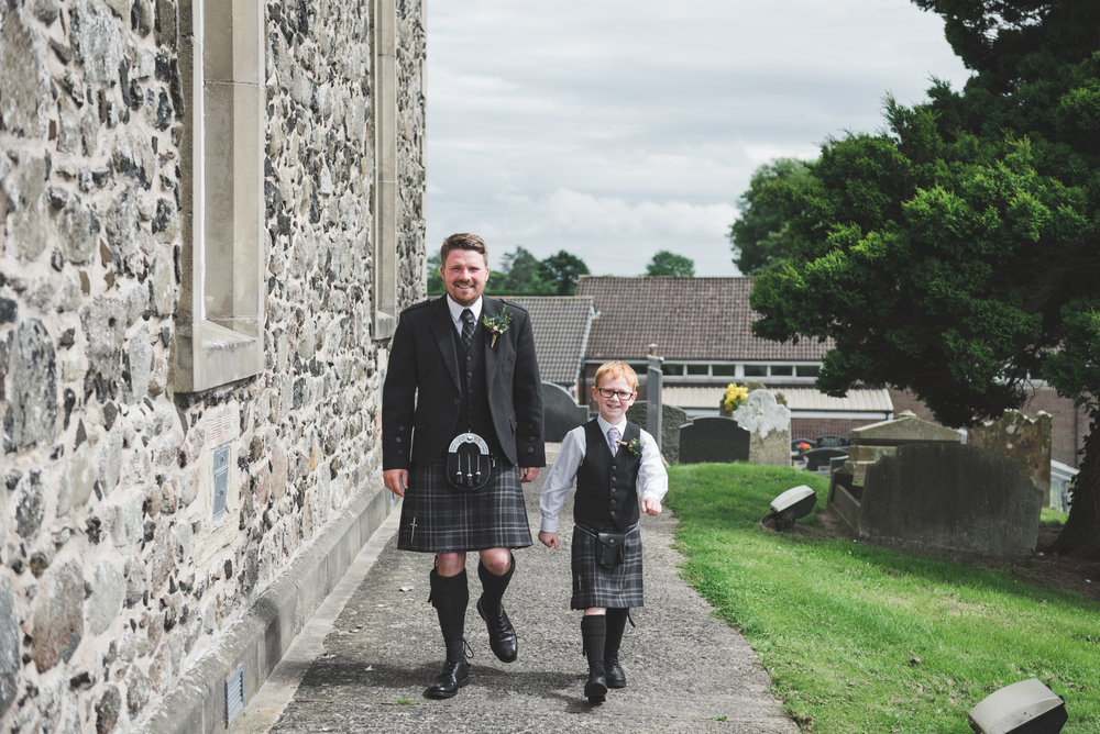 Lisburn Wedding Photographer Pure Photo N.I Magheragall Parish Church Groom and son