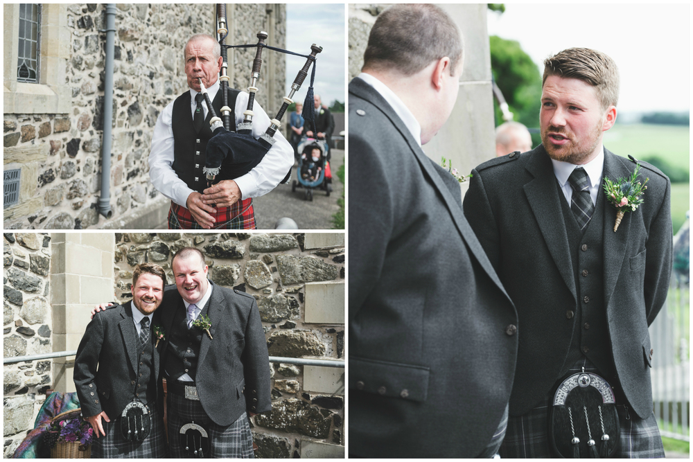Lisburn Wedding Photographer Pure Photo N.I Magheragall Parish Church Groom and best man