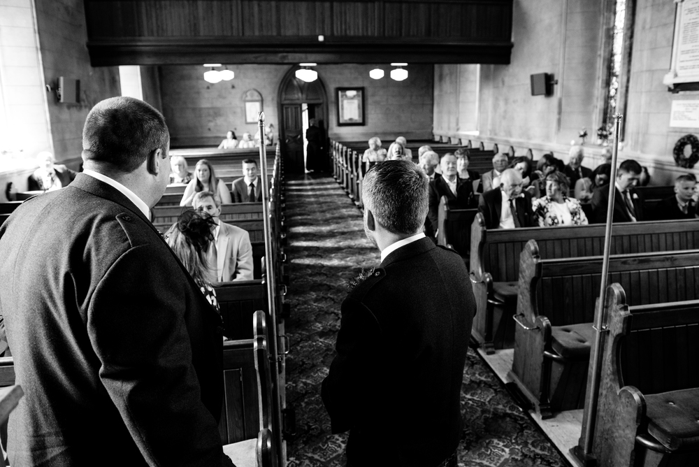 Lisburn Wedding Photographer Pure Photo N.I Magheragall Parish Church waiting groom