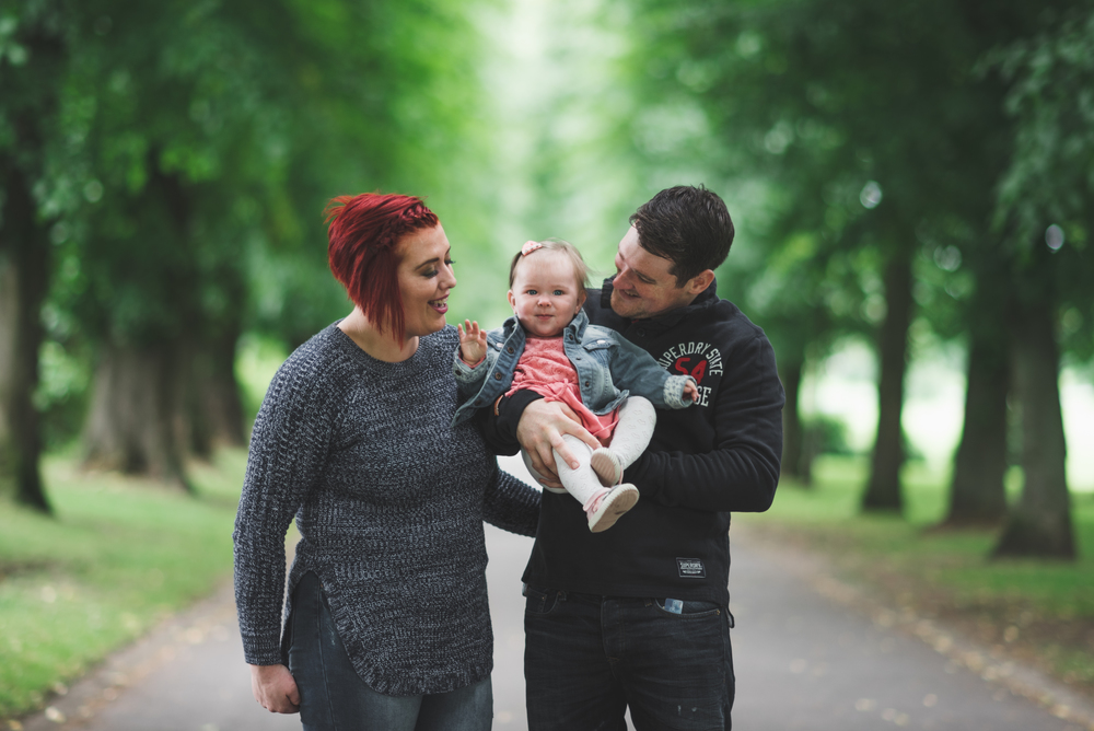 Family Photo session Pure Photo N.I Lurgan Park Mum Dad Daughter
